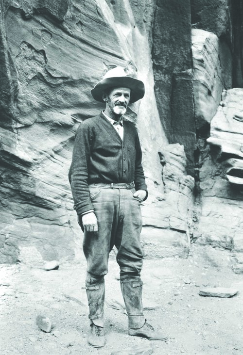 John Wetherill near Rainbow Bridge in 1923. Courtesy of Harvey Leake.