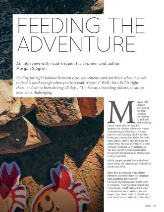 Feeding the adventure9